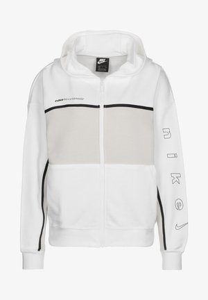 Zip-up hoodie - white / light bone / black