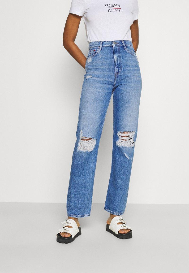 Tommy Jeans - JULIE UHR - Straight leg jeans - denim light