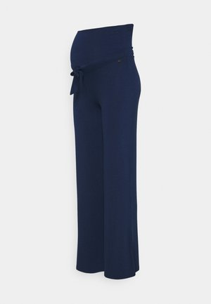 PANTS WIDE - Trousers - blue
