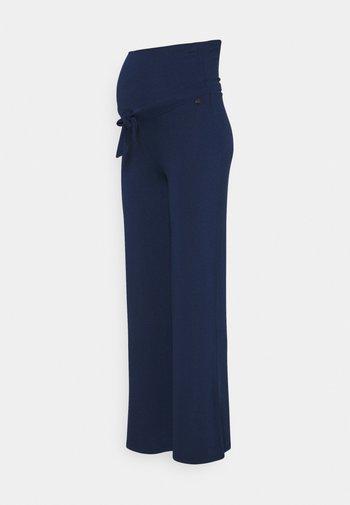 PANTS WIDE - Trousers - blue