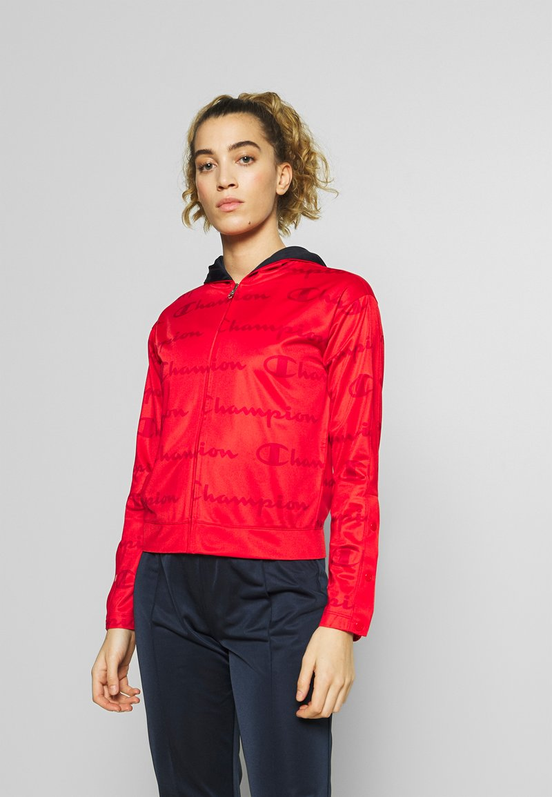 Champion - HOODED FULL ZIP SUIT - Chándal - red