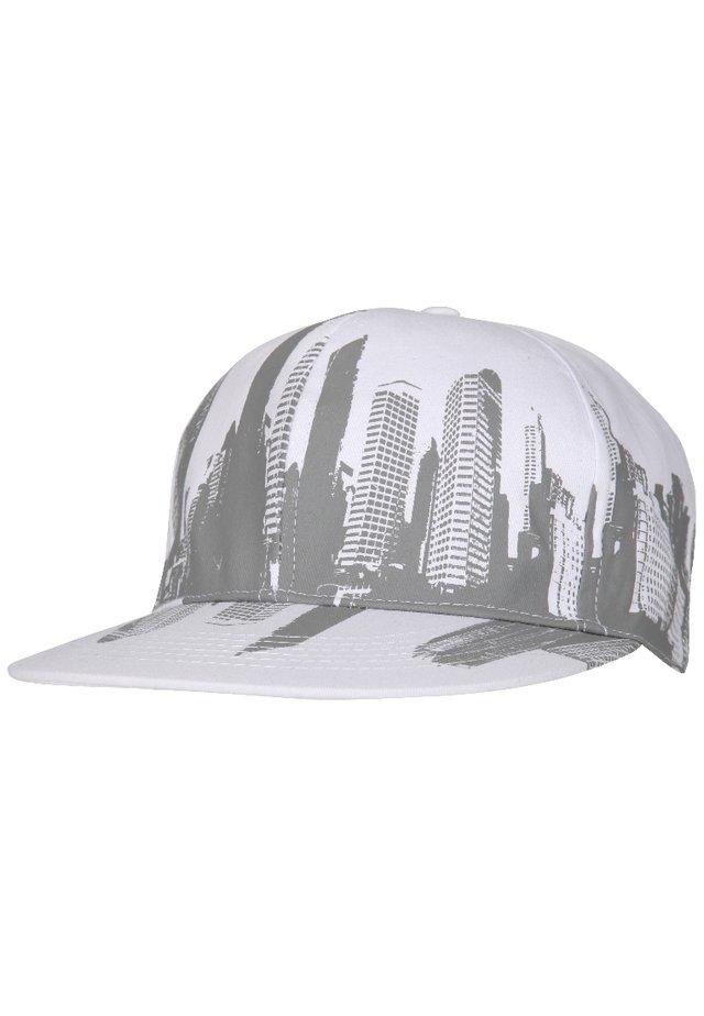 Cappellino - weiß/grau city print