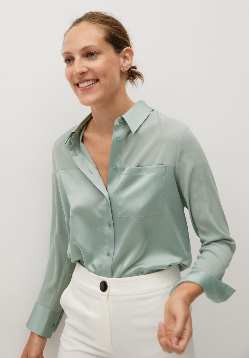 Mango - BIMA - Button-down blouse - vert