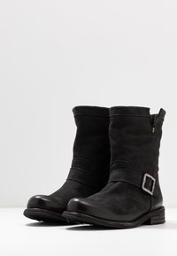 Felmini Wide Fit - GREDO - Cowboy/biker ankle boot - pacific black - 4