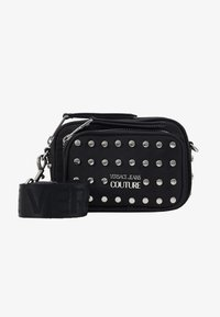 Versace Jeans Couture - STUDDED CAMERA - Across body bag - black - 1