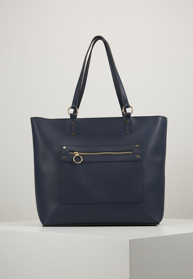 TORI UNLINED TOTE - Cabas - navy