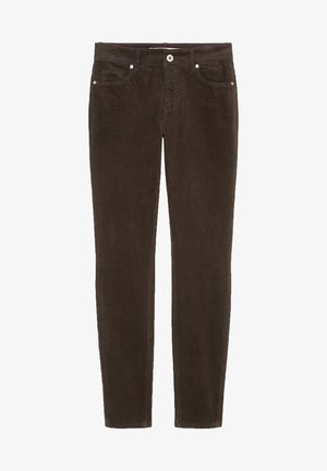 ALBY SLIM - Trousers - dark chocolate