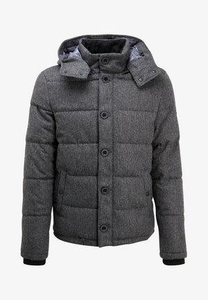 HOODED  - Winter jacket - grey melange
