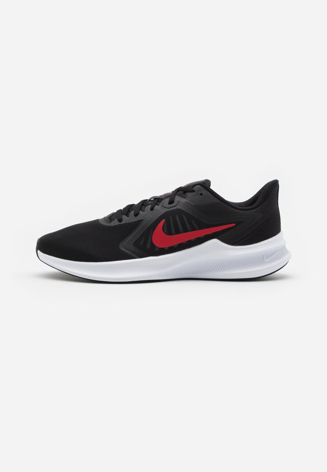 DOWNSHIFTER 10 - Neutral running shoes - black/university red/white