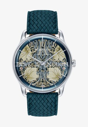 UHR MORRIS & CO SILVER INDIGO PERLON 38MM - Watch - indigo