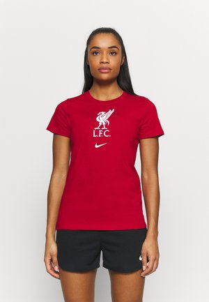 LIVERPOOL FC TEE EVERGREEN CREST - Triko s potiskem - gym red/white