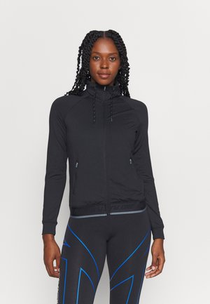 ONPANVI HIGHNECK ZIP - Mikina na zip - black/goblin blue