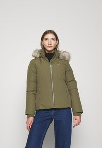 Tommy Jeans - TECHNICAL - Down jacket - olive tree - 0