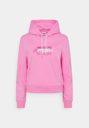 CROPPED FLAG HOODIE - Sudadera - pink daisy