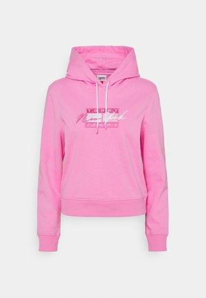 CROPPED FLAG HOODIE - Sweatshirt - pink daisy