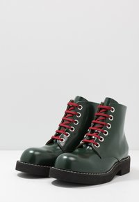 Marni - Lace-up ankle boots - deep sage - 2