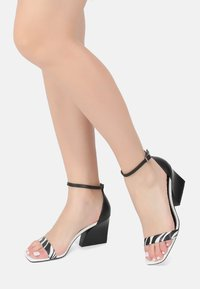 Ekonika - High heeled sandals - zebra black - 0