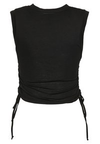 HIIT - LIZZY RUCHED TANK - T-shirts basic - black - 1