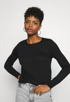 VMFELICITY LS O NECK BOW BLOUSE - Pullover - black