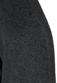 Zizzi - MELIERTER  MIT TASCHEN - Cardigan - dark grey melange - 5