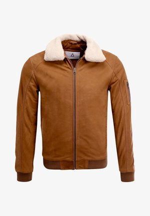 STYLISTE - Leather jacket - camel
