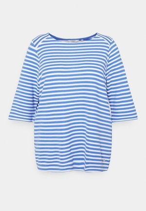 OTTOMAN STRIPED - Long sleeved top - marina/white