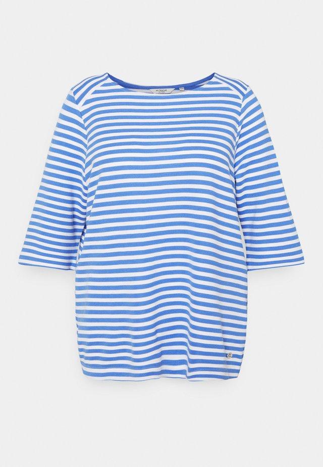 OTTOMAN STRIPED - Langærmede T-shirts - marina/white