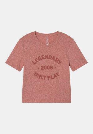 JOSEFA GIRLS - Print T-shirt - red ochre melange