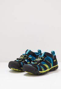 Keen - SEACAMP II CNX - Chodecké sandály - black/brilliant blue - 3