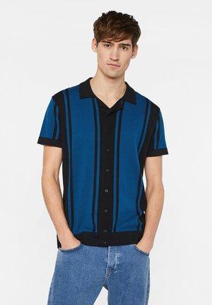 WE FASHION HEREN FIJNGEBREIDE POLOTRUI - Overhemd - dark blue