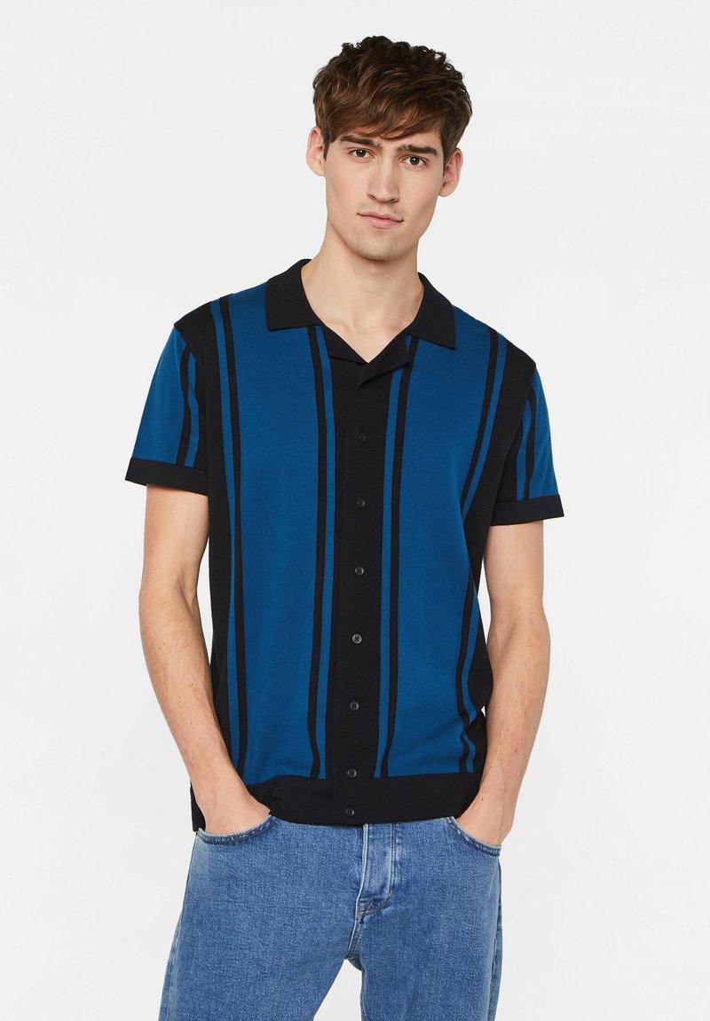 WE Fashion - WE FASHION HEREN FIJNGEBREIDE POLOTRUI - Shirt - dark blue