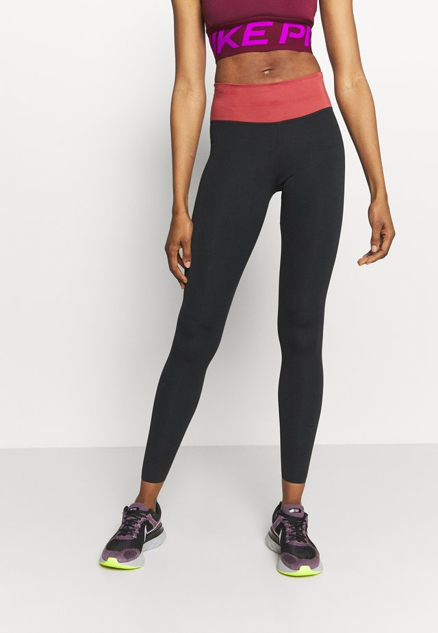 ONE LUXE - Leggings - black/canyon rust