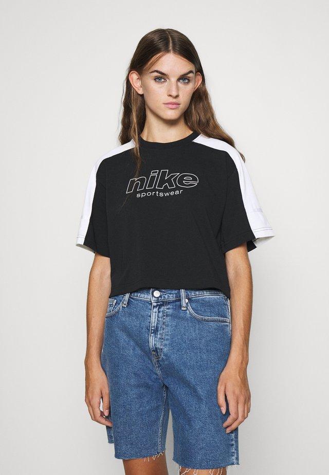 ARCHIVE - T-shirt con stampa - black/white