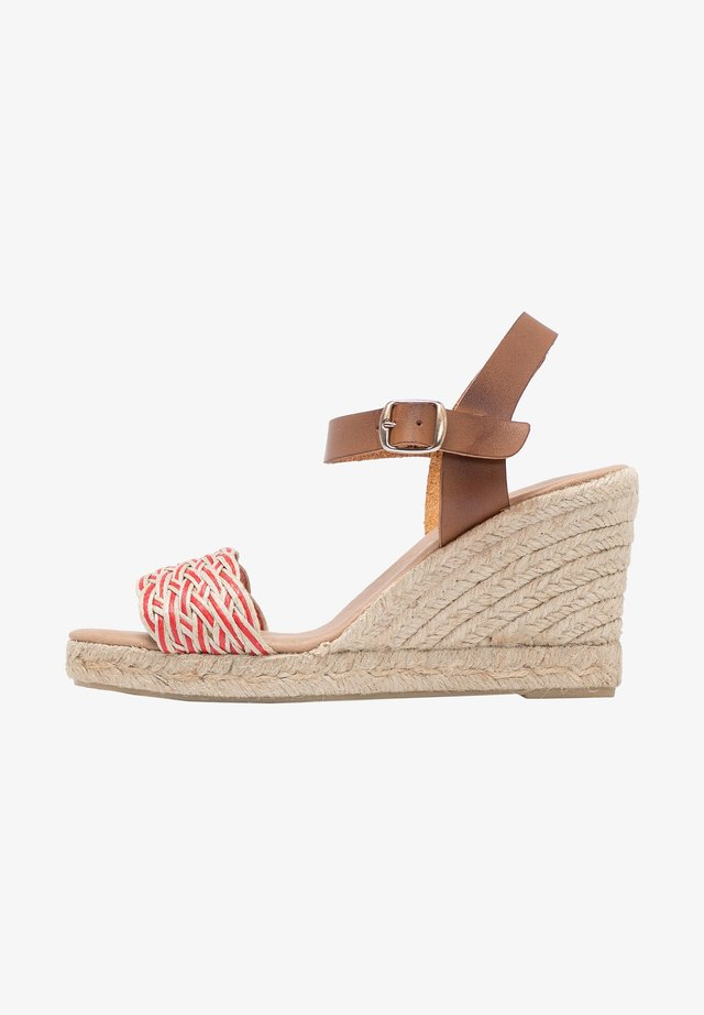 Sandales à talons hauts - Rojo