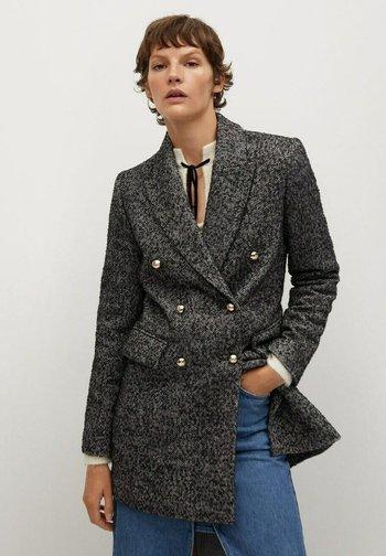PARIS - Klasyczny płaszcz - gris