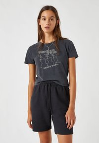 PULL&BEAR - Print T-shirt - dark grey - 0