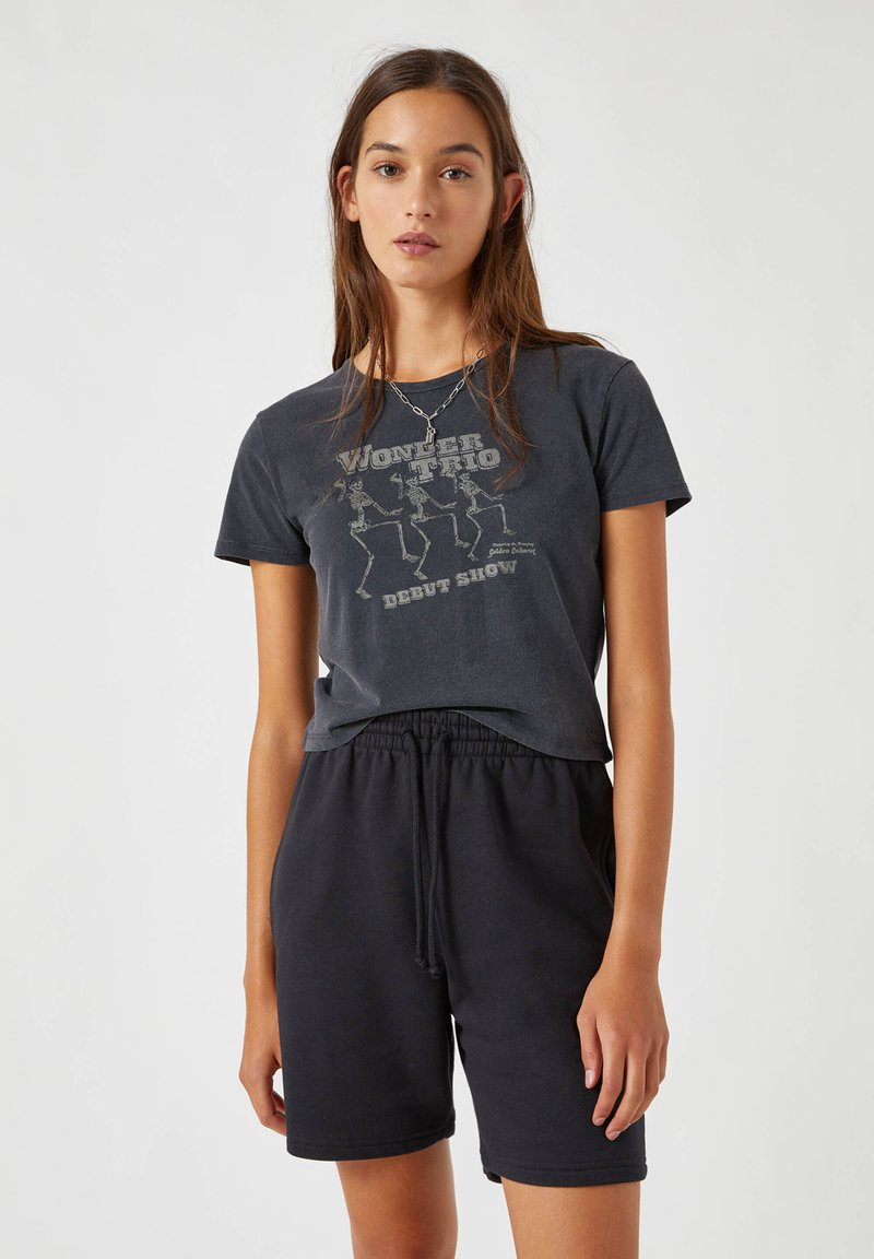 PULL&BEAR - Print T-shirt - dark grey