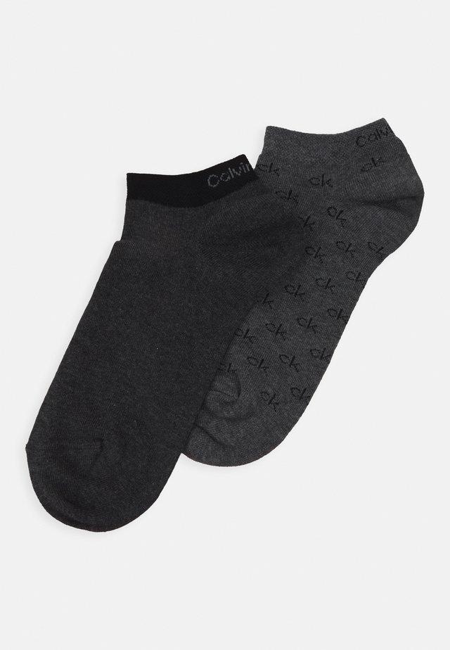 LINER ALL OVER LOGO EDUARDO 2 PACK - Socken - grey combo