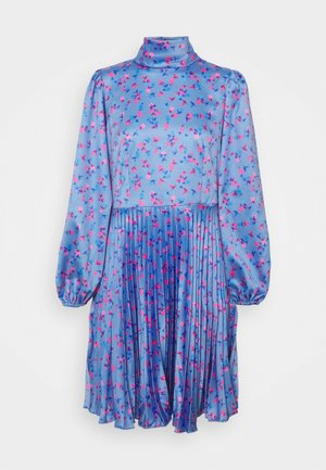 CLOSET HIGH NECK PLEATED DRESS - Robe de soirée - blue