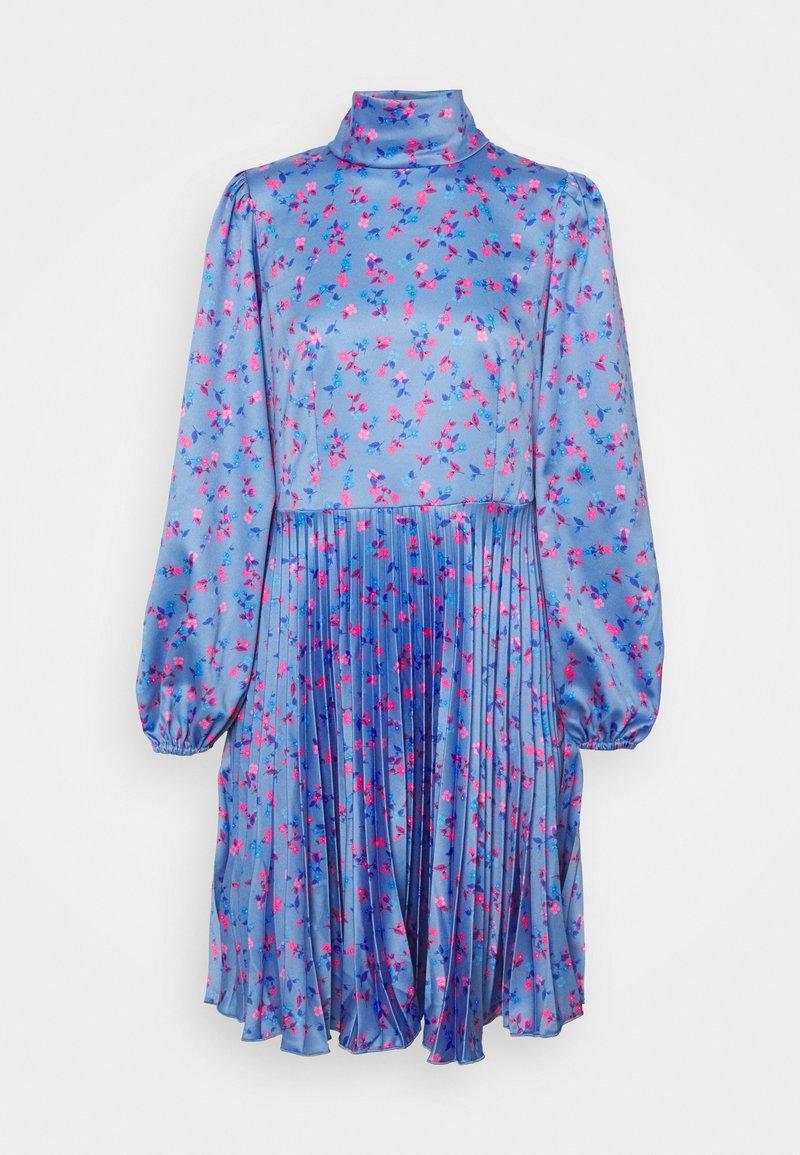 Closet - CLOSET HIGH NECK PLEATED DRESS - Cocktail dress / Party dress - blue