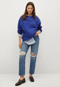 Mango - Sweatshirt - bleu - 1
