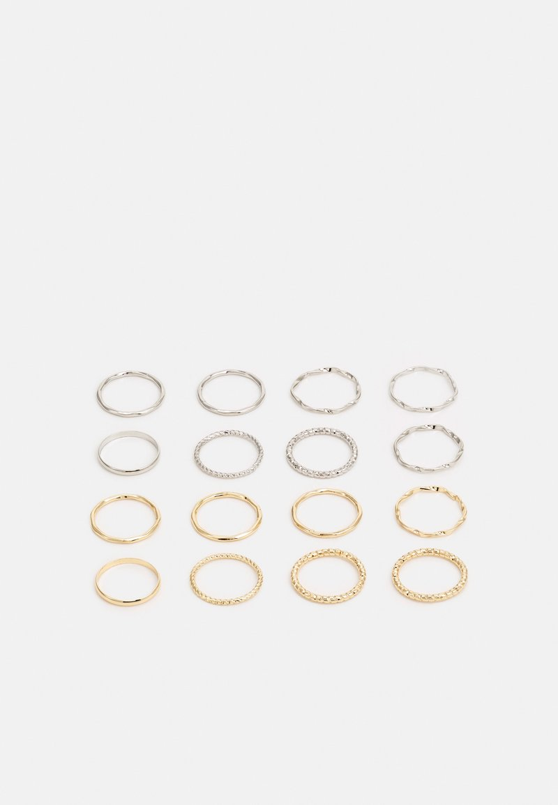 LIARS & LOVERS - ESSENTIAL TWISTED STACKING 16 PACK - Ring - gold-coloured