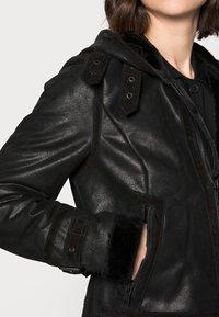 Freaky Nation - ARCTIC DAY - Leather jacket - black - 4