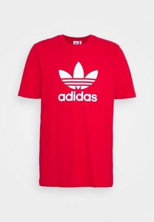 TREFOIL UNISEX - Print T-shirt - scarlet/white