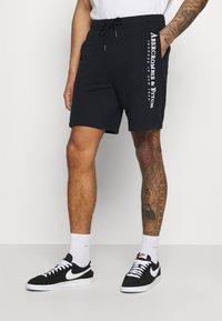Abercrombie & Fitch - TECH LOGO - Shorts - black - 0