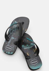 Havaianas - MAX HEROES - T-bar sandals - black/blue - 5