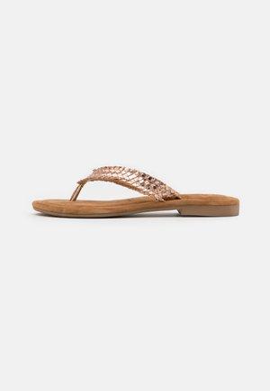 SLIDES - T-bar sandals - rose gold