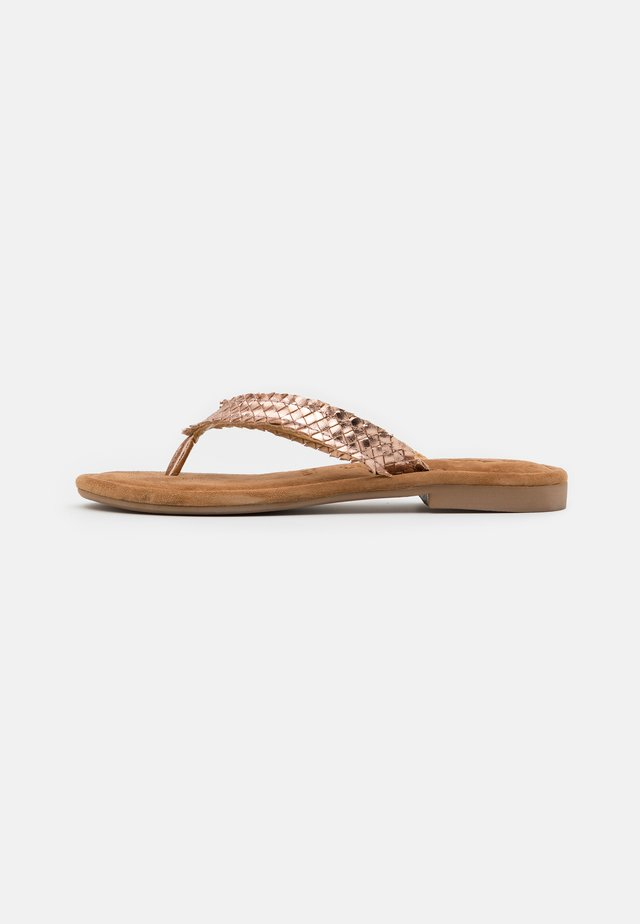 SLIDES - Sandalias de dedo - rose gold
