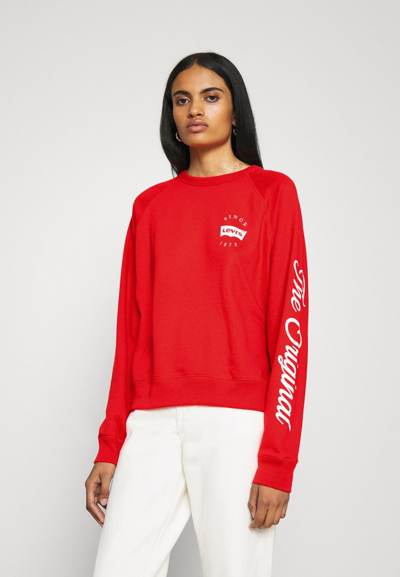 Levi's® - GRAPHIC EVERYDAY CREW - Sweater - poppy red