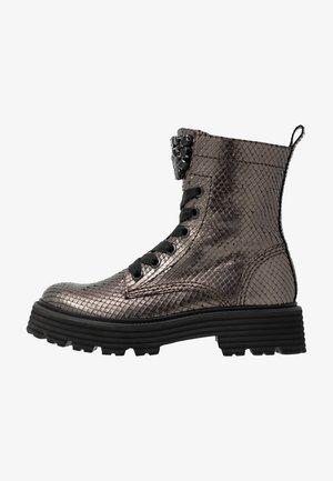 POWER - Platform ankle boots - smoke/black